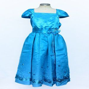 Girls Turquoise Blue Party Dress